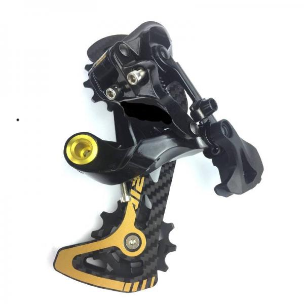 12 speed crankset shifter lever rear derailleur gold